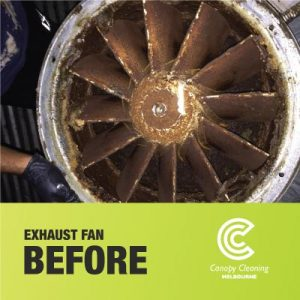 Exhaust Fan Cleaning Before